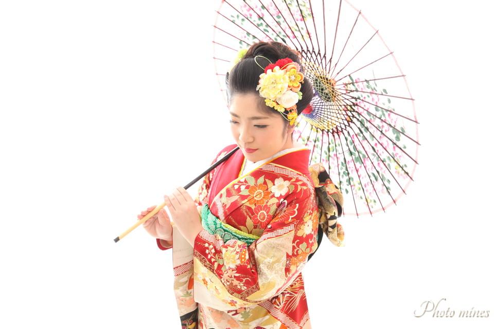 日本髪で成人式