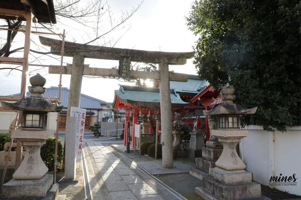 奈加美神社お宮参り駐車場