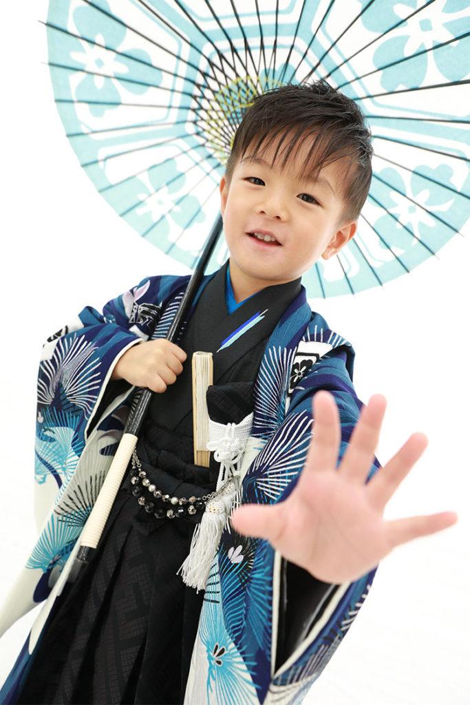 七五三 貸切スタジオ 男児袴 5歳