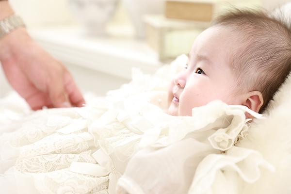 お宮参り 赤ちゃん 女の子 ベビードレス