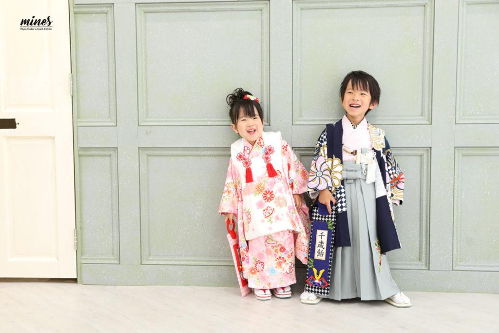 3歳5歳兄妹和装
