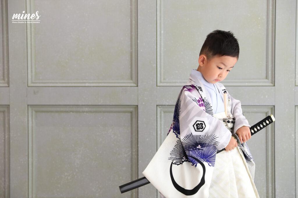 七五三5歳男の子袴写真スタジオマインズ泉佐野店1125