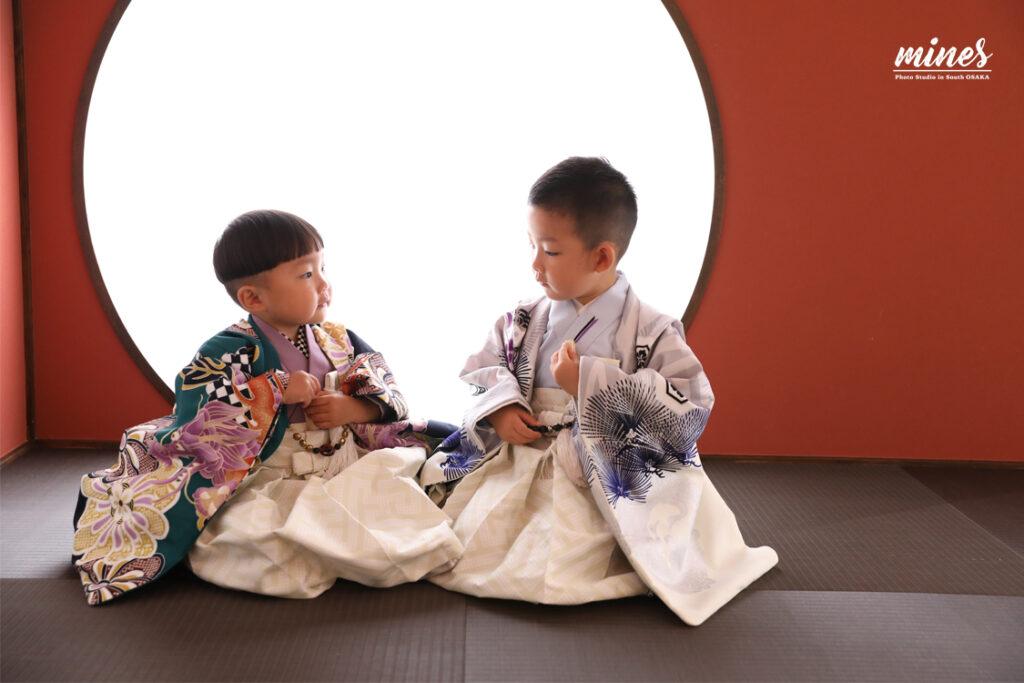 泉佐野店七五三兄弟撮影5歳3歳